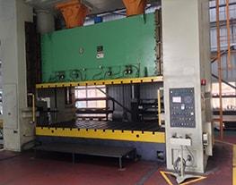 Prensa de pruebas mecánica de 4m y 800Tn, con alimentadores de 1000X4